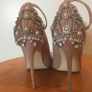 Janine Embellished Blush Pumps